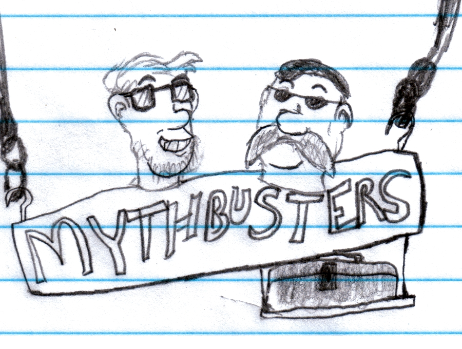 Mythbusters sketch thing