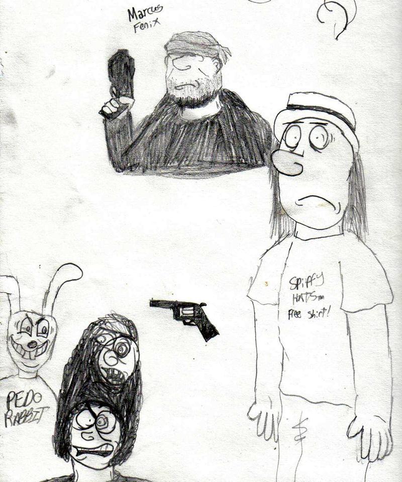 Marcus Fenix, Du, Pedo Rabbit, .44 Magnum & a guy who's afraid of all of them.